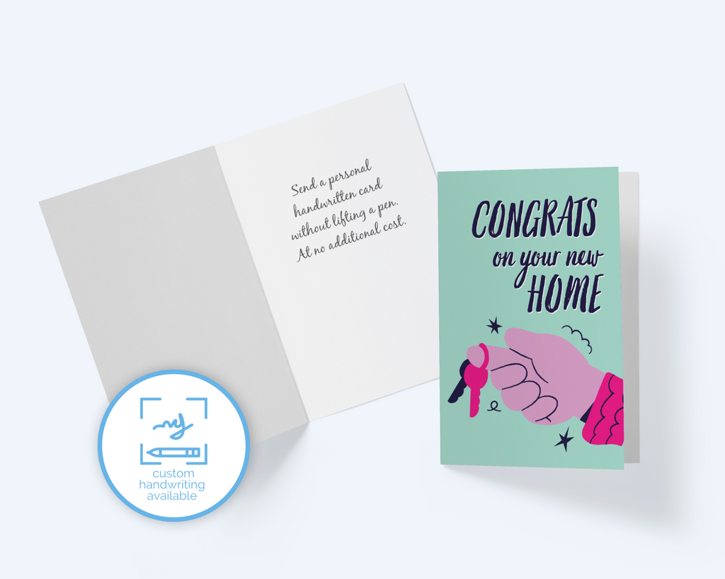 Congrats On You New Home Greeting Card, New Keys Note Card - CardCraft