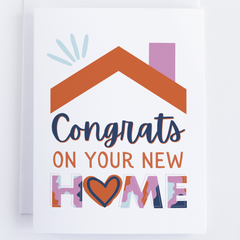 Congats On Your New Home Greeting Card For Housewarming, Note Card For New Home - CardCraft