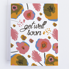Get Well Greeting Card, Thinking Of You Card With Flowers - CardCraft