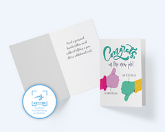 New Job Greeting Card: Congrats On The New Job Happy For You, Sad For Us - CardCraft