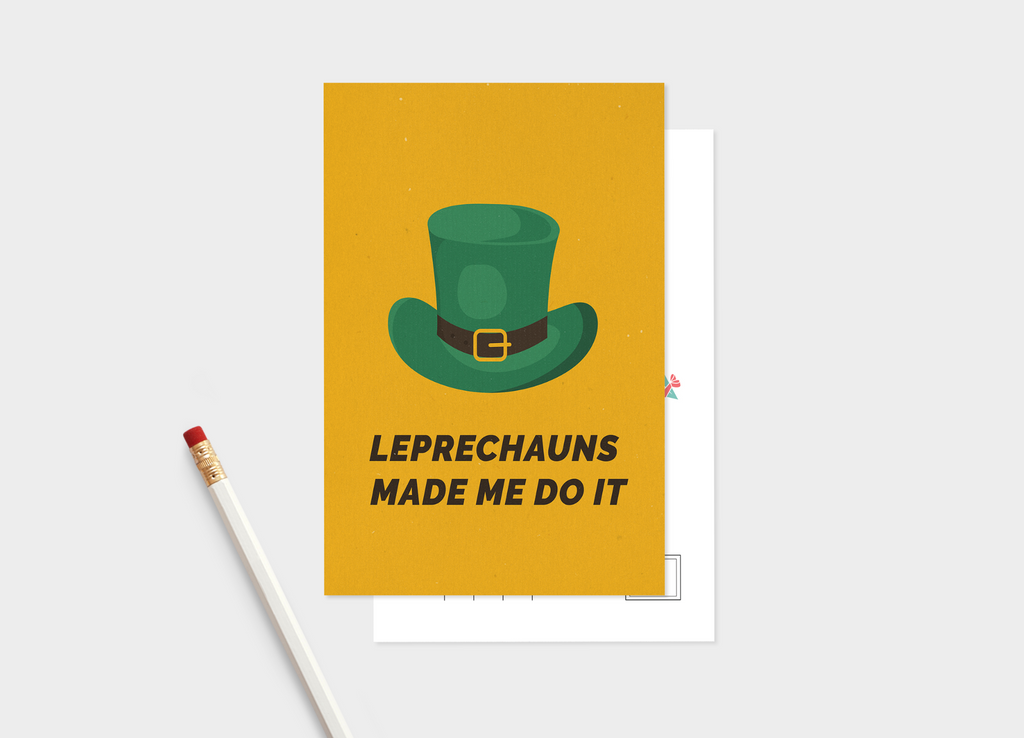 St. Patrick's Day: Leprechaun's Made Me Postcard Bundle - Pack Of 5 or 10