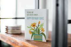 Chosen Family Birthday Card - Happy Birthday Love - Greeting Card, Birthday Note Card - CardCraft