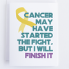Cancer Fight Greeting Card, Cancer Sucks Fight It Card - Thinking Of You Card - CardCraft