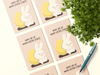 Wake Me Up When Easter Starts Postcard Bundle: Pack Of 5 or 10 Postcards