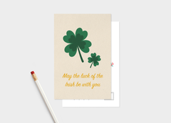 May The Luck Of The Irish Be With You postcard