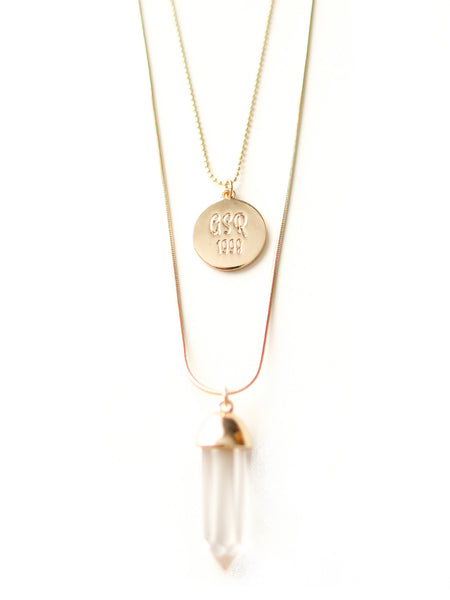 Alpha Sigma Rho Layered Pendant Necklace