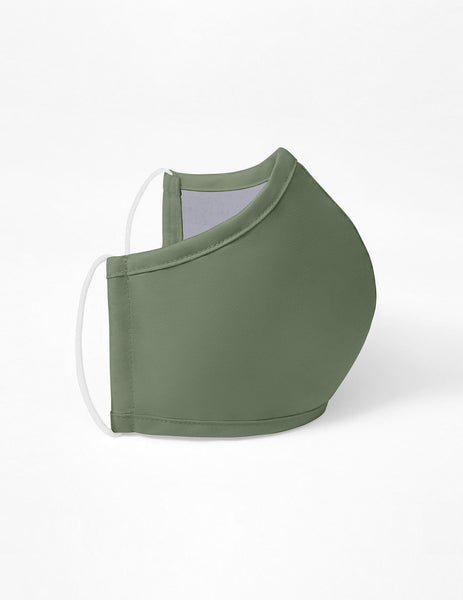 Reusable Antimicrobial Face Mask - Olive Green (Adult)