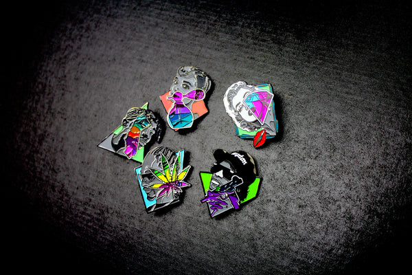 Icons Pin Set by Pony Lawson x Sloth Steady