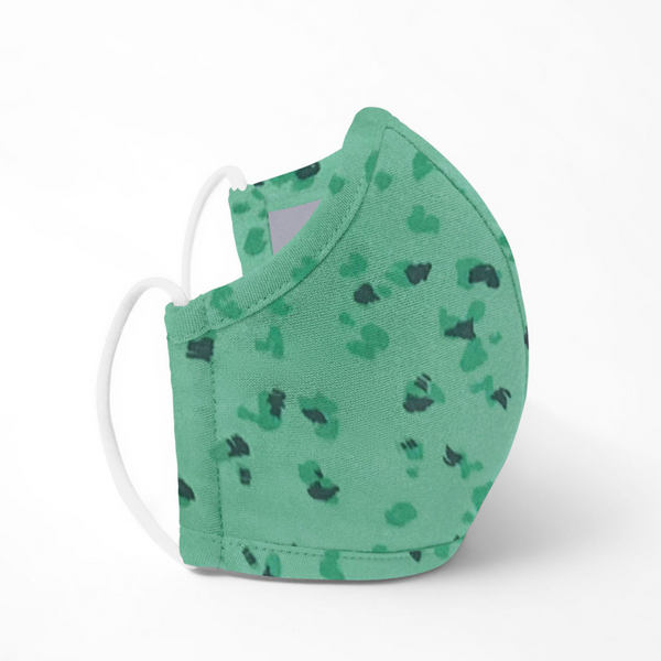 Reusable Antimicrobial Face Mask - Mint Pebble (Child)