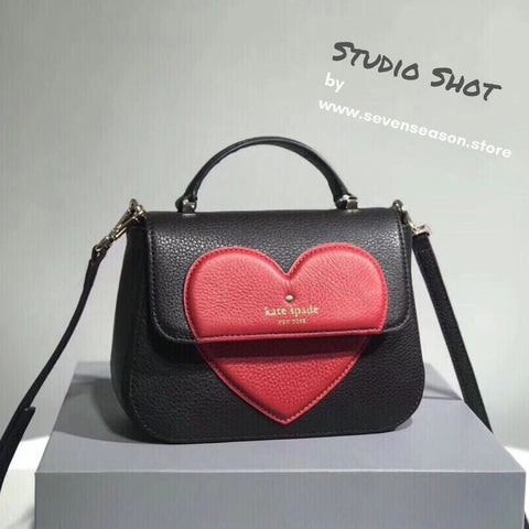 ate spade new york Be Mine Alexya Heart Satchel Bag-Seven Season Studio Shot