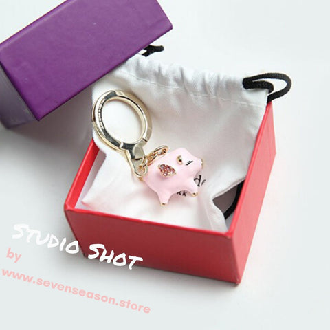 kate spade new york Jeweled Flying Pig Keychain-Seven Season