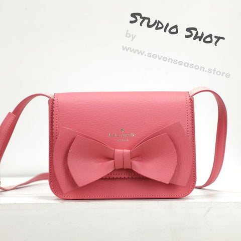kate spade new york Vanderbilt Place Hanni Bow Pink Crossbody Bag-Seven Season