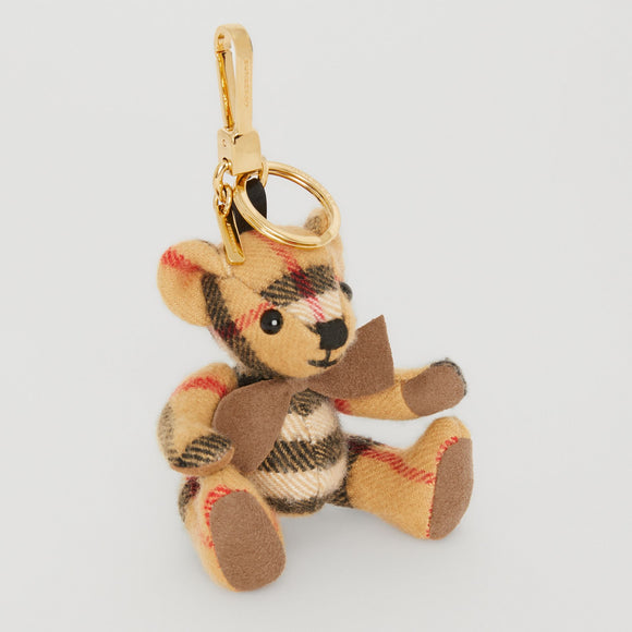 Burberry Thomas Bear in Vintage Check Cashmere Key Charms-Seven Season