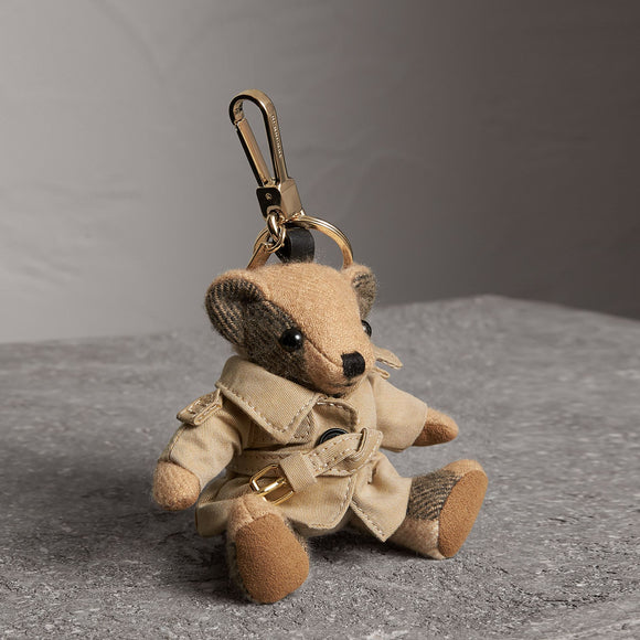 Burberry Thomas Bear in Trench Coat Cashmere Key Charms-Seven Season