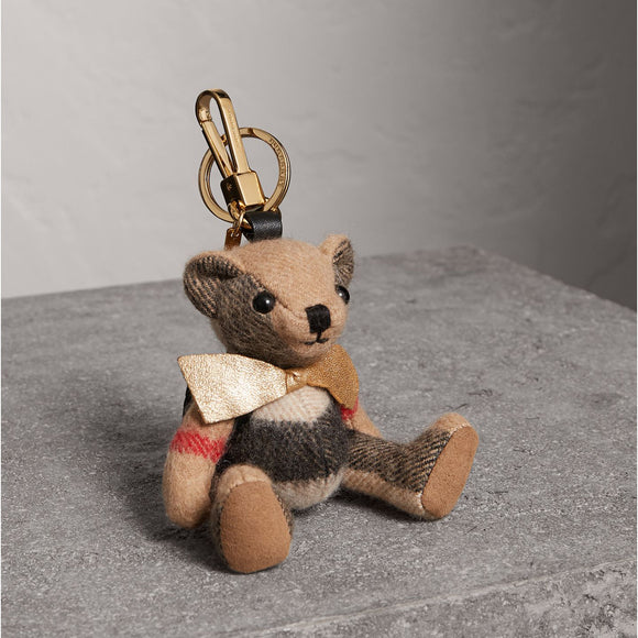 Burberry Thomas Bear with Rucksack Cashmere Key Charms-Seven Season