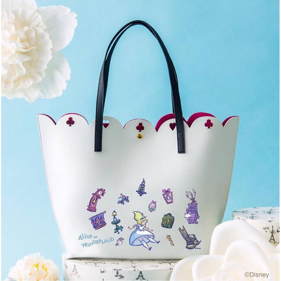 COLORS By Jennifer Sky Alice in Wonderland Ivory Tote-Seven Season