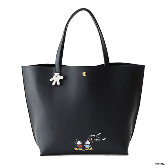 COLORS By Jennifer Sky Mickey Mouse and Minnie Mouse Black Tote Bag-Seven Season