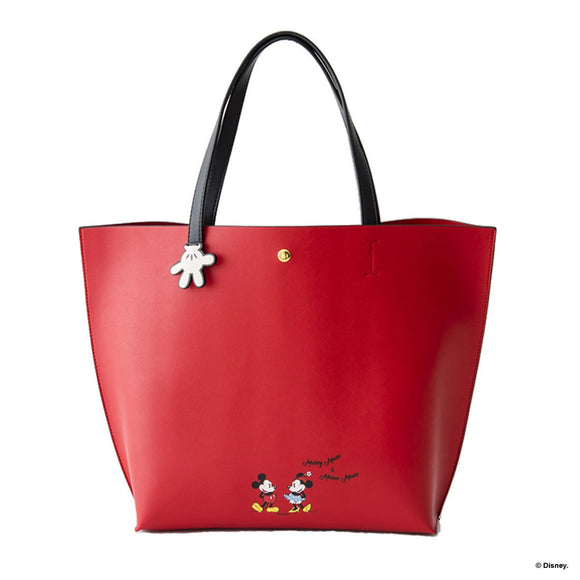 COLORS By Jennifer Sky Mickey Mouse and Minnie Mouse Red Tote Bag-Seven Season