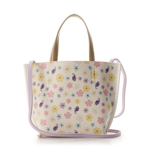COLORS & chouett Tangled Rapunzel Flowers and Pascal Lavender Crossbody Bag-Seven Season