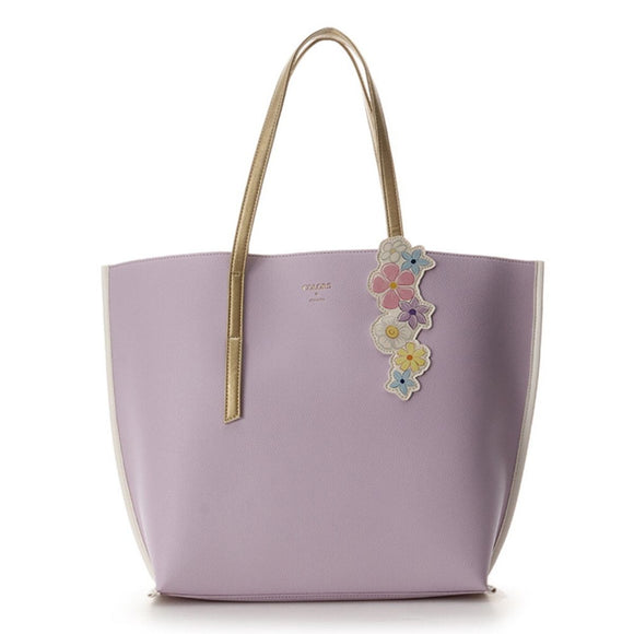 COLORS & chouett Tangled Rapunzel Magical Flowers Lavender Tote-Seven Season