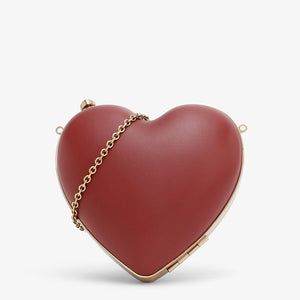 Charles & Keith Red Heart Shape Clutch-Seven Season