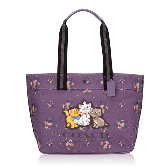 Coach Disney Aristocats Rose Bouquet Canvas Tote-Seven Season