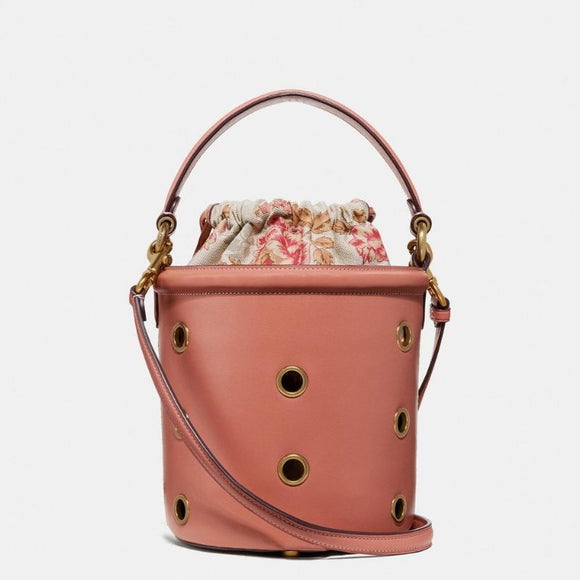 Coach Drawstring Bucket Bag with Grommets-Seven Season