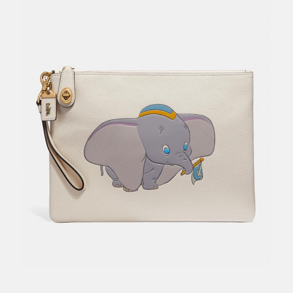 Coach Dumbo the Elephant Turnlock Wristlet -Seven Season