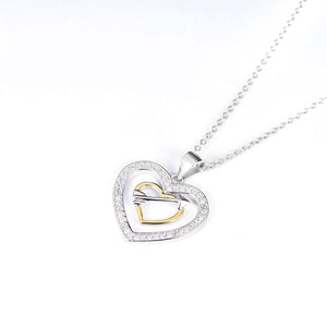 Duo Hearts and Arrow Pendant Necklace