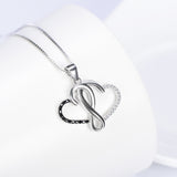 Intertwined Hearts Pendent Necklace