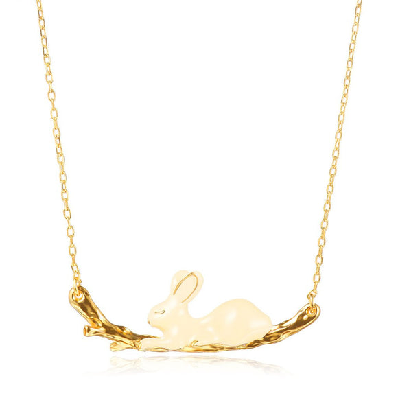 Seven Season Enamel Bunny Rabbit Chain Necklace