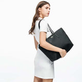 Lacoste Women's L.12.12 Black Tote Bag-Seven Season