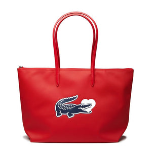 Lacoste Women's L.12.12 Croc Heart High Risk Red Tote Bag-Seven Season