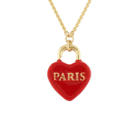 Les Néréides Paris Heart Shaped Lock Necklace-Seven Season