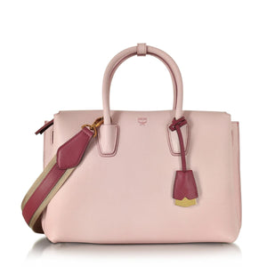 MCM Milla Medium Leather Pale Mauve Tote Bag-Seven Season