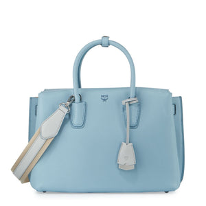 MCM Milla Medium Leather Sky Blue Tote Bag-Seven Season