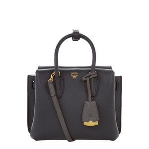 MCM Milla Mini Leather Black Tote Bag-Seven Season