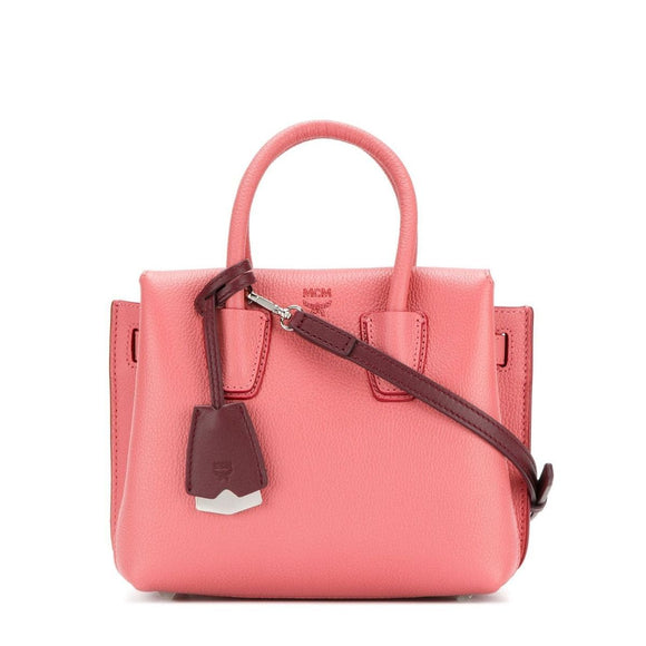 MCM Milla Mini Leather Coral Blush Tote Bag-Seven Season