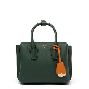 MCM Milla Mini Leather Forest Green Tote Bag-Seven Season