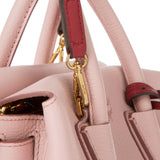 MCM Milla Mini Leather Pink Blush Tote Bag-Seven Season