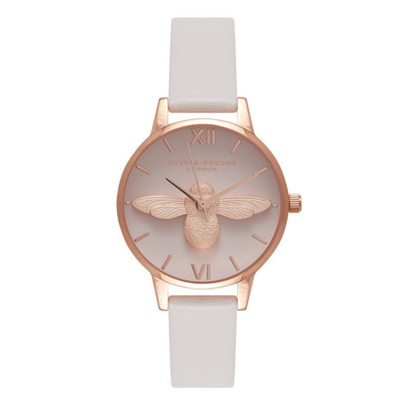 Olivia Burton 3D Bee Blush Dial Blush and Rose Gold Watch-Seven Season