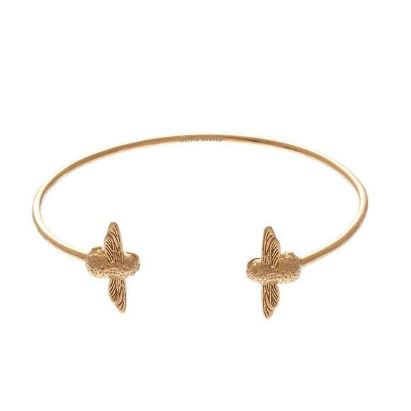 Olivia Burton 3D Bee Gold Open End Bangle-Seven Season