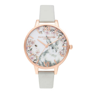 Olivia Burton Bunny Demi Dial Vegan Grey and Rose Gold Watch-Seven Season