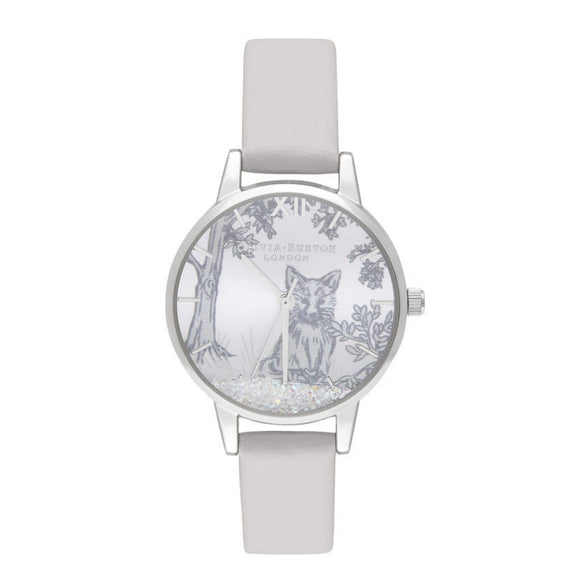 Olivia Burton Snow Globe Arctic Fox Midi Dial Blush and Silver Watch-Seven Season