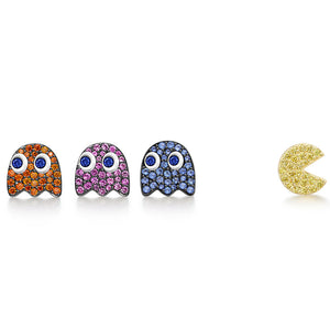 PacMan Blinky Pinky Inky Clyde Ear Studs