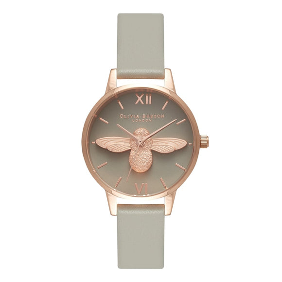 Seven Season 3D Bee Midi Grey Dial and Rose Gold Watch