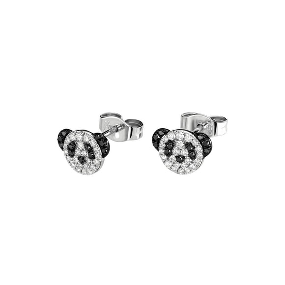 Seven Season Adorable Panda Diamond Accent Stud Earrings