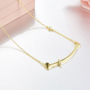 Seven Season Adorable Puppy Bone Necklace HEFANG Jewelry