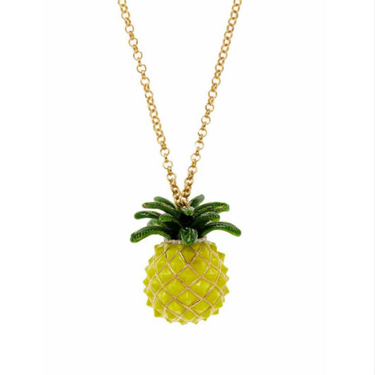 Seven Season Anyway You Slice It Pineapple Yellow Long Necklace