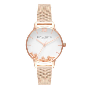 Seven Season Busy Bees Midi Dial Rose Gold Mesh Watch
